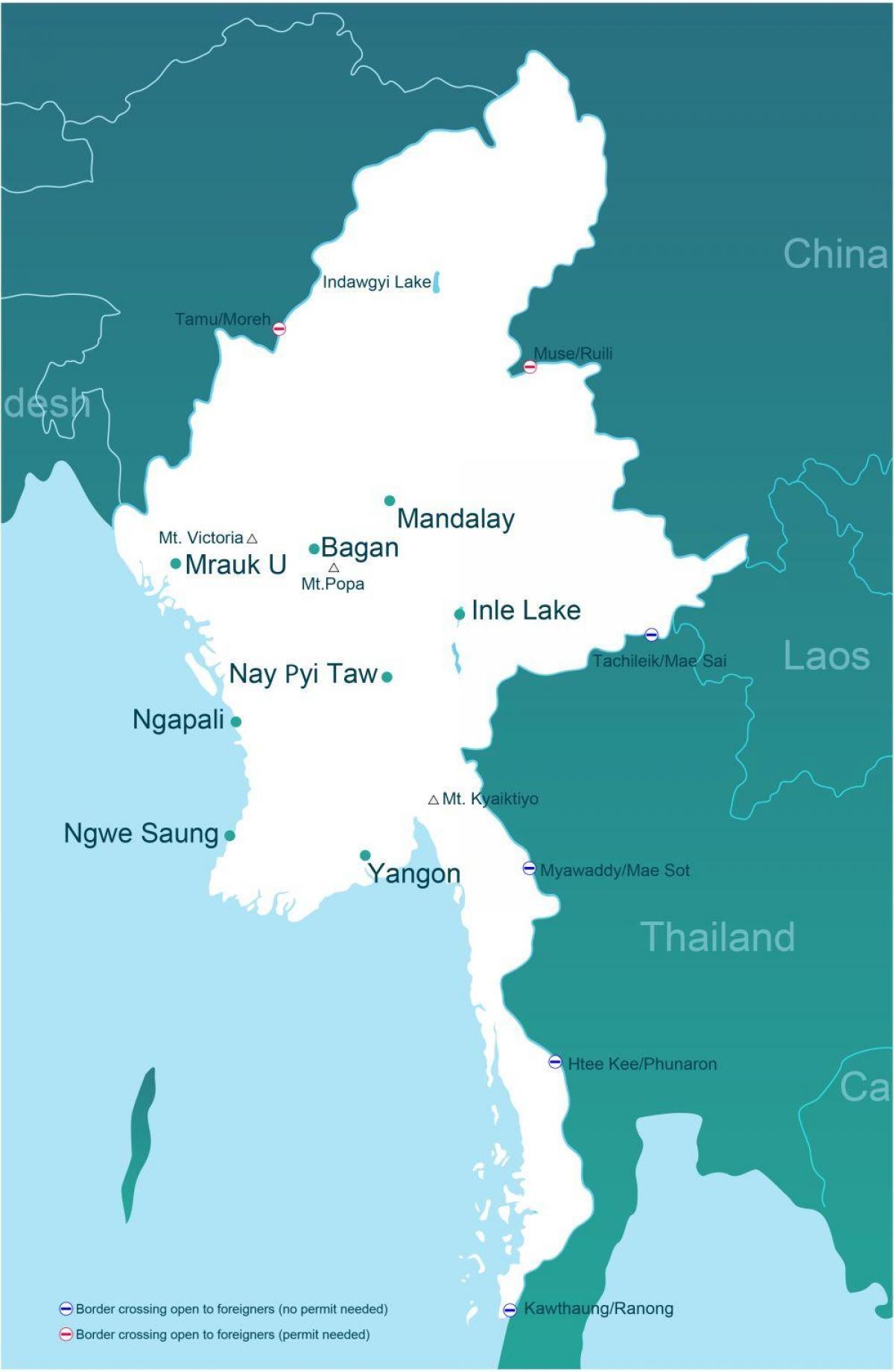 Myanmar Avstand Kart Kart Over Myanmar Avstand Sor Ost Asia Asia
